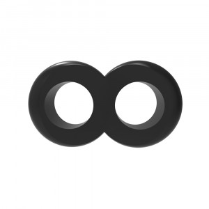 Эрекционное кольцо с подхватом мошонки COCK черное
