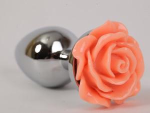 Анальная пробка с изящным бутоном розы Ø 28 мм