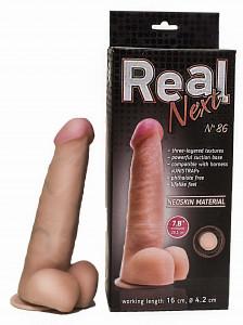 """Фаллоимитатор на присоске 7,8"""" REAL Next №86"""