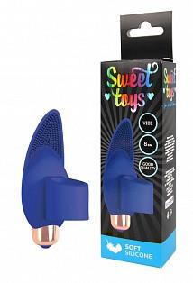 Насадка SWEET на палец силикон синяя
