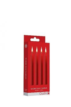 Набор восковых BDSM-свечей Teasing Wax Candles,красные