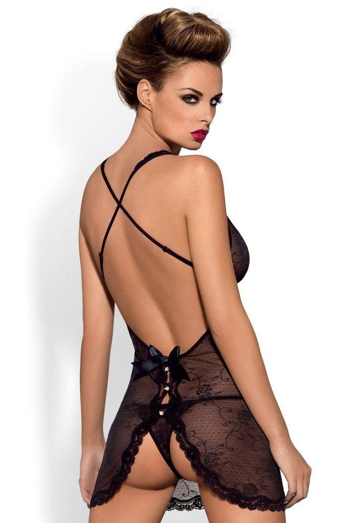 Obsessive Комплект Fiorenta платье и трусики L/XL