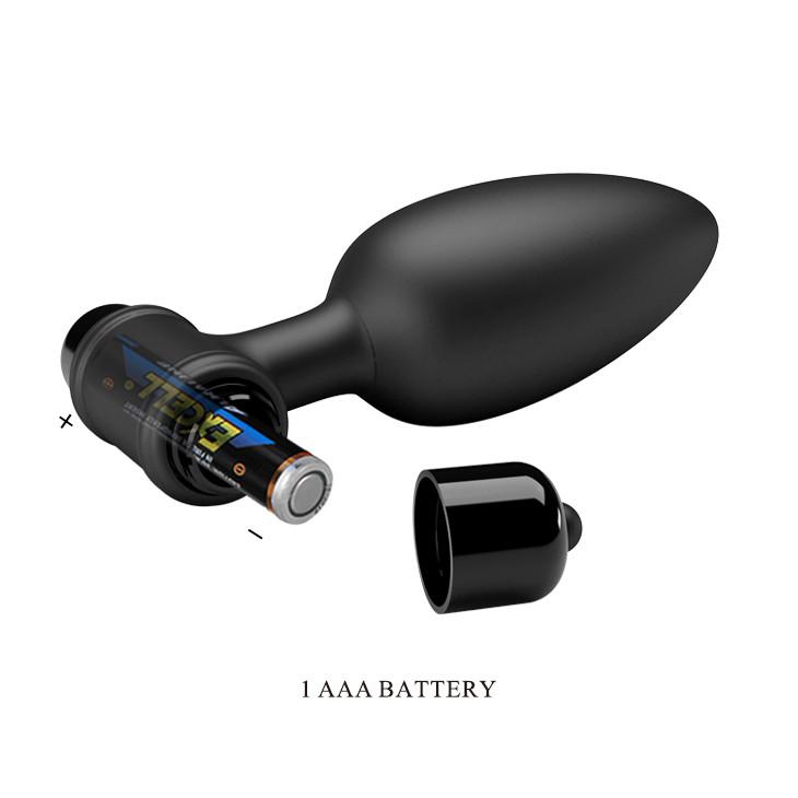 Анальная пробка Vibra Butt Plug  черная