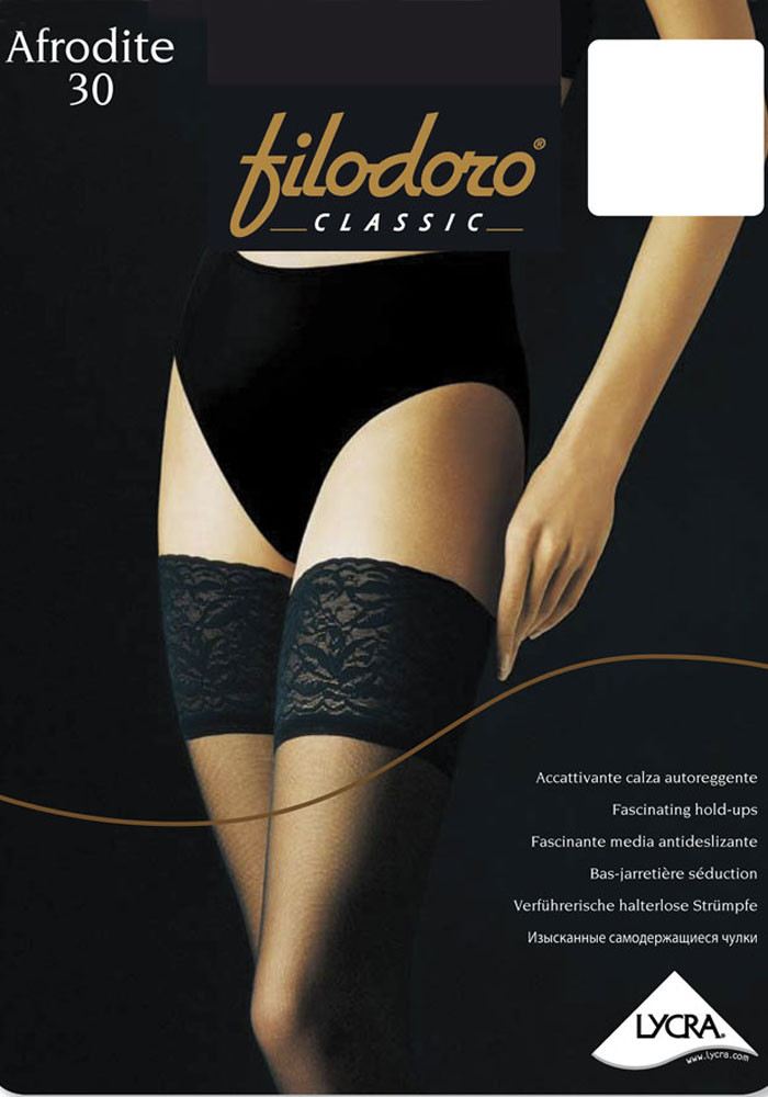 Чулки Filodoro Classic Afrodite 30 den 2-S Черный