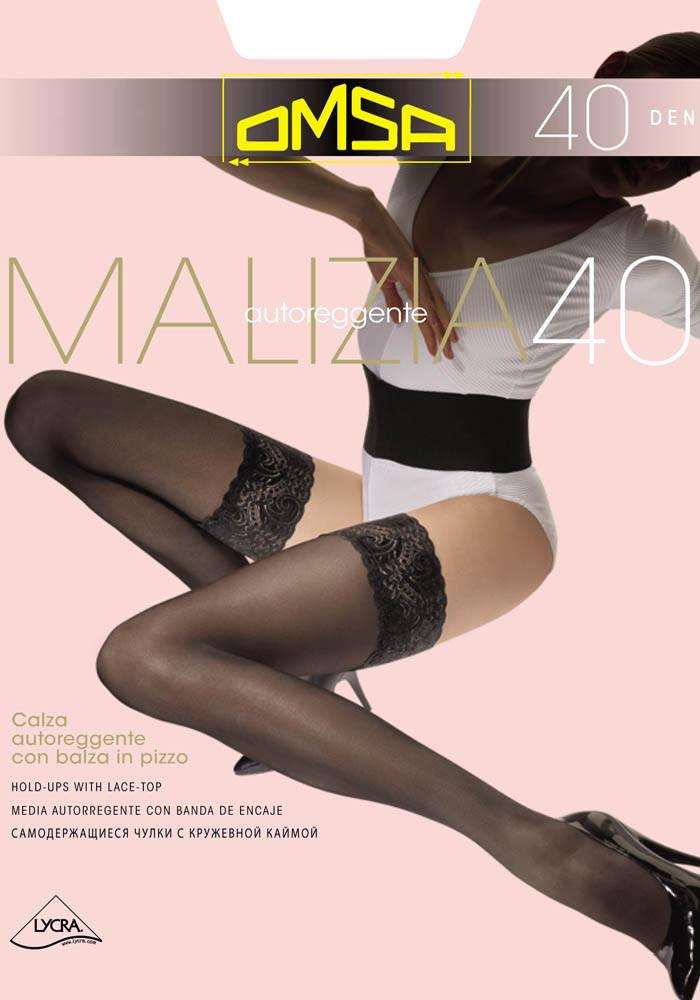 Чулки Omsa Malizia 40 den 4-L Черный