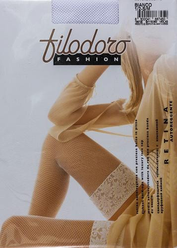 Чулки Filodoro Retina S/M Белый