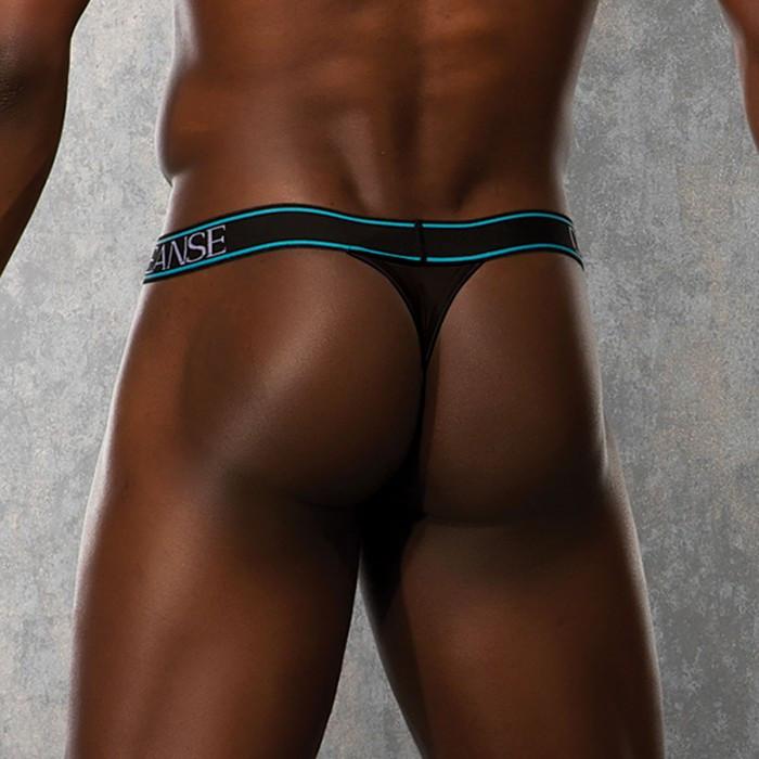 Мужские стринги черные с широкой резинкой XL
