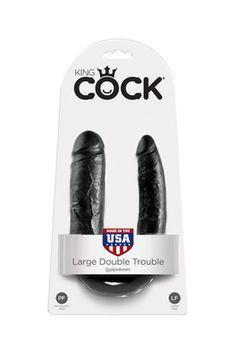 Фаллоимитатор двухсторонний King Cock Double  черный