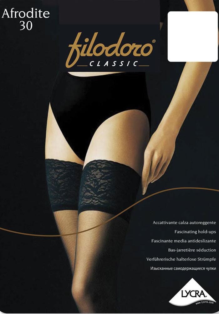 Чулки Filodoro Classic Afrodite 30 den 4-L Черный