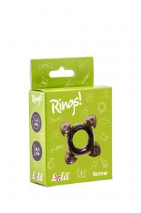 Эрекционное кольцо RINGS SCREW BLACK