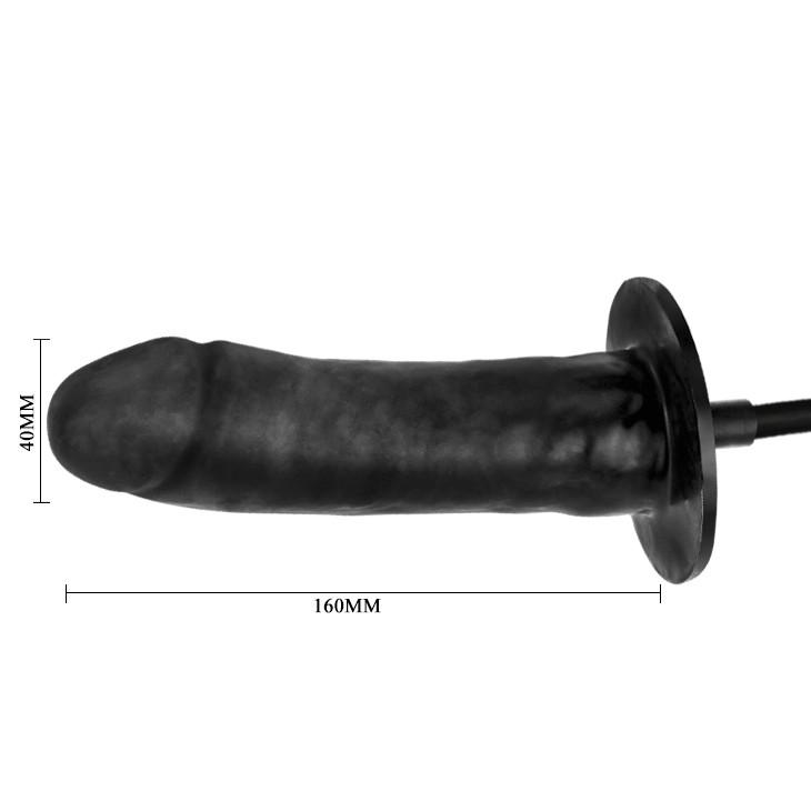 Фаллоимитатор с вибрацией и увеличением размера черный
