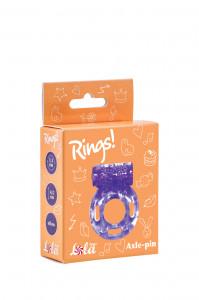 Эрекционное виброкольцо RINGS AXLE-PIN фиолетовое