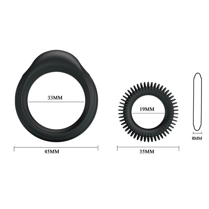 Набор из двух эрекционных колец, силикон