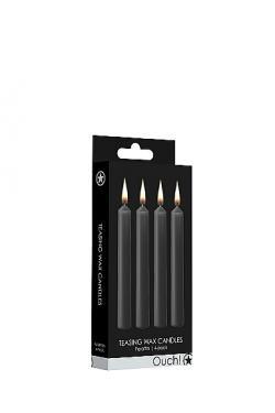 Набор восковых BDSM-свечей Teasing Wax Candles, черные