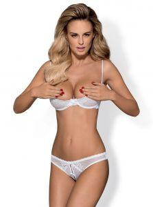 Комплект с открытой грудью Alabastra S/M белый
