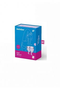 Набор менструальных чаш Satisfyer Feel secure Menstrual Cup (Lila)