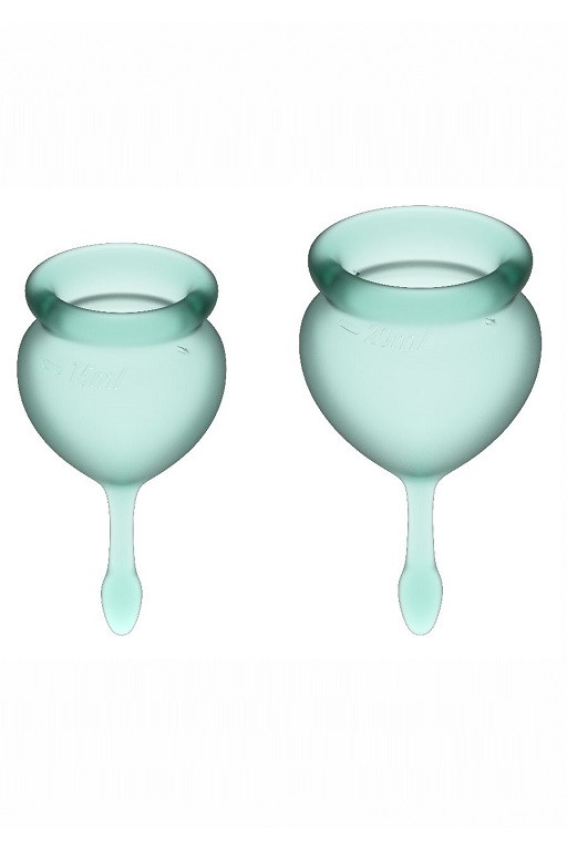 Набор менструальных чаш Satisfyer Feel good Menstrual Cup (dark green)