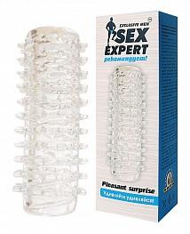 Насадка  прозрачная «Sex Expert»