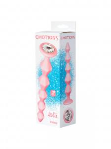Анальная цепочка с кристаллом Emotions Buddy розовая